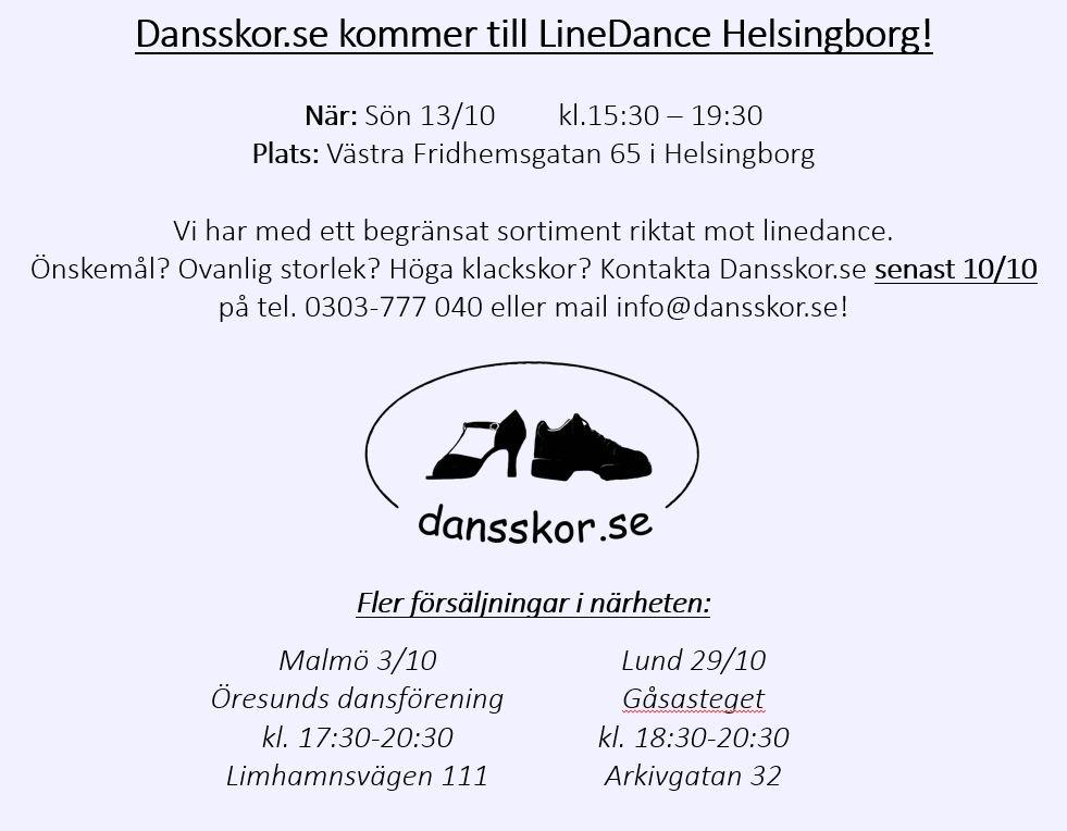 Dansskor.se kommer till Helsingborg.